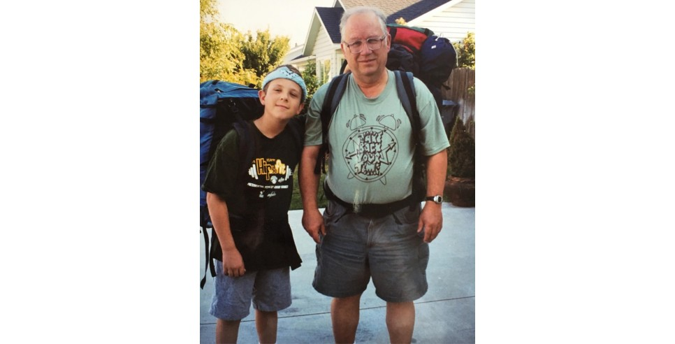 David de Graaf and John de Graaf Backpacking in 1993