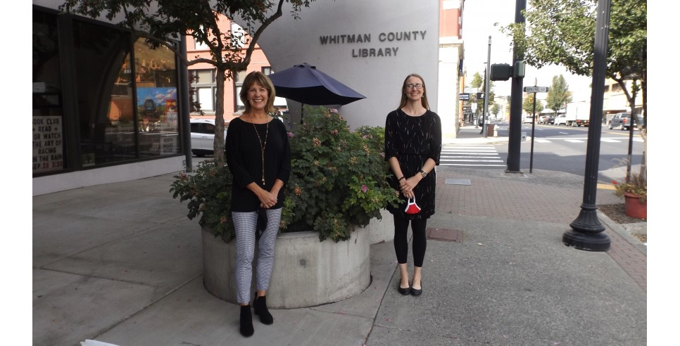 Kristie Kirkpatrick and Kylie Fullmer - outgoing and incoming directors  of the Whitman County Rural Library District.