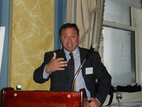 Jonathan Gassman presenting at the Penn Club in NYC