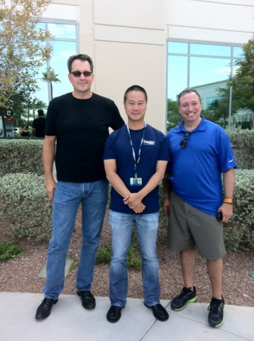 Danny O, CEO of the Roasterie, Tony Hsieh, CEO of Zappos, in Las Vegas NV