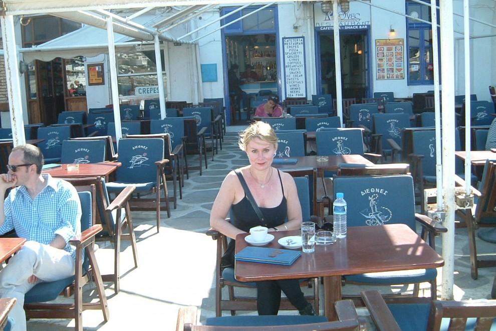 Patricia Vaccarino in Mykonos Oct 2003
