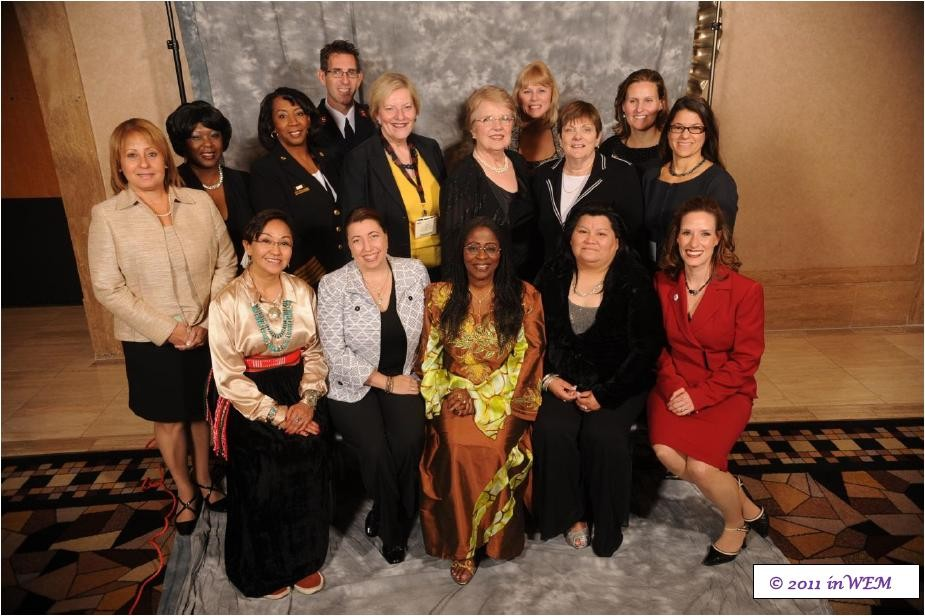 Searle (second from right, second row) was honored in 2011 at ceremonies in Las Vegas for the new Hall of Fame for Women in Homeland Security and Emergency Management.